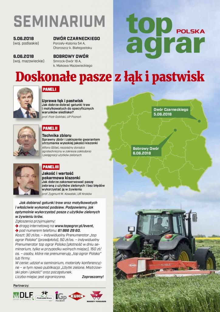 seminaria top agrar Polska - doskonałe pasze z łąk i pastwisk